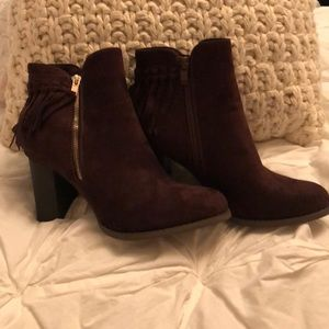 "Brown Suede Booties Size 10 Via Pinky ""Kayla"""